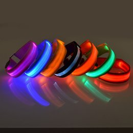 Wholesale Nylon Dog Collar Wholesale - LED Nylon Pet Dog Collar Night Safety LED Light Flashing Glow in the Dark Small Dog Pet Leash Dog Collar Flashing Safety Collar mix color