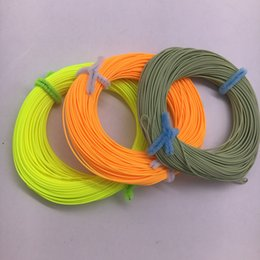 Wholesale Green River Rock - 100FT Fly Line Floating Fishing Line Nylon Floating Fly Fishing String Floating Line for Ocean River Stream Fishing 3 Colors