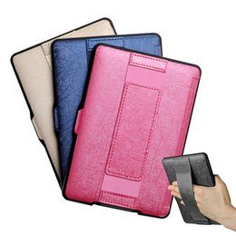 Wholesale E Readers Kindle - Wholesale- One Hand Control Leather Case for Kindle paperwhite 2016 8th Generation e-reader Texture PU cover Free Shipping