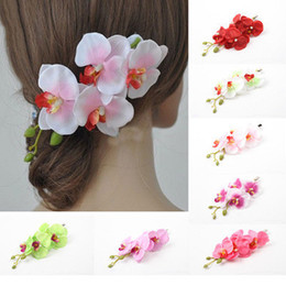 Wholesale New Fashion Wedding Bridal Bridesmaid Moth Orchid Headdress Wreath Jewelry For Women Pageant Prom Headdress Hair Accessories