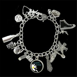 Wholesale Looking For Gift Wholesaler - 6pcs Looking For Alaska Themed phone dream shooting star eagle Charm Bracelet silver tone