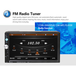 Wholesale Dvr Radio - 7023D 7 Inch 2 DIN Bluetooth HD Car Stereo Audio MP5 Player with Card Reader FM Radio Support USB   AUX   DVR CMO_21Y
