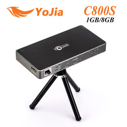 Wholesale Wireless Media Player Hdmi - Smart DLP Projector 1G 8G 850*480 Android 4.4 mini Projector Media Player Support HDMI USB TF Card Input for office and Home