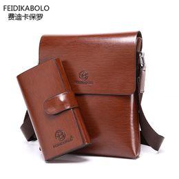 Wholesale Black Fd - Wholesale-FD BOLO Brand Handbags Men Leather Satchel Purses and Handbags Business Men Messenger Bags Men Shoulder Bags Clutch Dollar Price