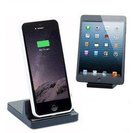Wholesale Ipad Docking Black - Universal Desktop Holder Stand Charger Dock Station For Apple iPad iPhone 7 6S 6 Plus 5S SE With Retail Package
