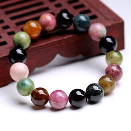 Wholesale tourmaline jewelry for women - 2017 New 8mm Tourmaline Bead Bracelets Bangle Jewelry For Women Accessories Charms Reiki Amulet Adjustable Decorations Fashion Jewelry
