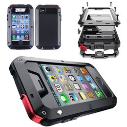 Wholesale Iphone Gorilla Glass Cases - Waterproof Shockproof Aluminum Gorilla Glass Metal Cover Case For Apple iPhone 4s 5s SE 5c 6s 7 4.7 plus