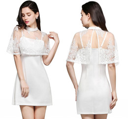 Wholesale Cheap Girls Jackets - New White Spaghetti With Wrap Design A Line Homecoming Dresses 2018 Cheap Summer Hot Mini Short Cocktail Dresses Sweet Girls Gowns CPS652