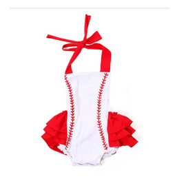 Wholesale White Suspenders For Babies - White Baseball Overalls For Girl Soft Toddle Cotton Boutique Baby Clothing Shorts For Kid Baby Children