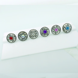 Wholesale Colored Resin Bracelets Wholesale - Colored rhinestone stone flower button the center button for 18 mm pearl   20 mm DIY jewelry, bracelet button in advance