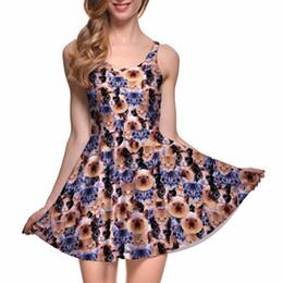 c79d3e029b6d3 Wholesale- Drop Ship Brand New Sexy Donna Casual Dress CRAZY CAT LADY  REVERSIBILE SKATER DRESS - LIMITED Abiti plissettati stampa sconti vestito  ...