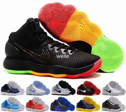 Wholesale Balls For Tennis - Hyperdunk 2017 EP Top Quality Weave Knit Basketball Shoes For Men Hyperdunks Basket ball Black Metallic Blue White Sports Trainers Sneakers