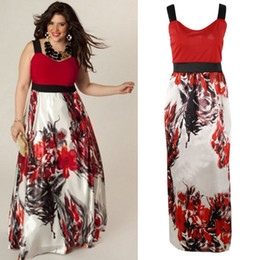 Wholesale Evening Dresses Out Shoulder - Plus Size Women Evening Party Bodycon Prom Gown Formal Cocktail Long Maxi Dress Lace Silk Polyester Print Dress