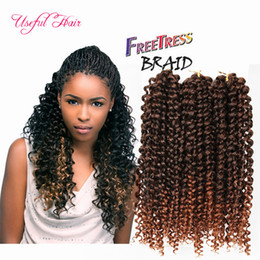 Wholesale Bouncy Curls - SYNTHETIC HAIR EXTENSIONS PRODUCTS deep wave 3pc pack Bouncy Curl 10inch crochet braids hair 3X BraidS Savana bohemian MARLEY BRAIDING