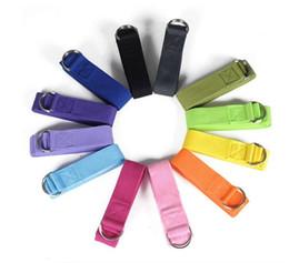 Wholesale Wholesale Pilates Ring - Yoga exercise Stretching Band 183*3.8cm Long Type Yoga Stretch Strap Training Belt Waist Leg Fitness Gym D-Ring Pilates Fitness loop rope