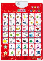 Wholesale Baby Reading Books - Alphabet Music 1-10 numbers Learning Baby sound wall chart read card book Early educational Enlightenment Electronic toy for kid