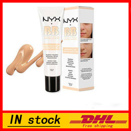 Wholesale Bb Beauty Cream - 2016 Latest NYX BB Cream beauty balm baume beaute brightens smoothes moisturizes oil free Mineral Enriched 30ml 4 Colors Free DHL shipping