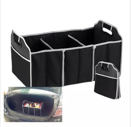Wholesale Black Save - Collapsible Car Trunk Organizer Truck Cargo Portable Tools Folding storage Bag Case Space Saving Auto Boot Organizer
