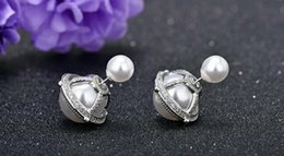 Wholesale Vintage Ruby Stud Earrings - 2017 New Fashion Bohemian Silver Circle Knot Stud Earrings for Women Retro Earring Vintage Hook Stud Gift Party