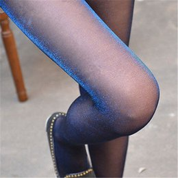 Wholesale Opaque Tights Women - Wholesale- Hot Women Silver Glitter Shimmer Shiny Sexy Sheer Pantyhose Opaque Stockings Tights
