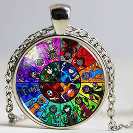 Wholesale Wholesales Best Friends Necklaces - Steampunk 2017 New Homestuck God Wheel Game Comic Necklace Pendant Charm Jewelry Cosplay Anime Women Men Chain best friends Gift