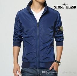 Wholesale Designer Fashion Hoodies - High quality brand designer Stone men jackets England Style overcoat outwear winter Casual Zipper sweatshirts Hoodies plus size