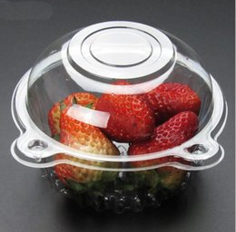 Wholesale cupcake box clear - Hat Clear Plastic Disposable Plastic Cake Container Cupcakes Packaging Box Cake Box Salad Bakeware Kitchen Tool