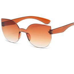Wholesale Eye Glasses Temple - 2017 Women Cat Eye Conjoined Lens Brand Designer Hot Selling Acetate Temple Sun Glasses UV400 A097