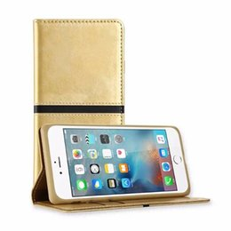 Wholesale Custom Wallets Wholesale - Custom Phone Cases Folio PU Leather Flip Case Cover Magnetic Stand Wallet Card Holder Stand for iphone 7