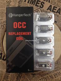 Atomiseur de clone de kanger en Ligne-Kanger kangertech OCC atomiseur tête de remplacement pour Kanger Sub Ohm vaporisateur Subtank Mini Nano Atomizer Kit de réservoir
