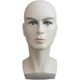 Manichini del corpo superiore online-Espositore per cappello da uomo con manichino da esposizione per parrucca da allenamento per uomo