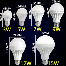 Wholesale 7w 15 Smd Light - Wholesale- E27 LED Bulb 6 9 12 15 18 21 24ps SMD 5730 Lamp 220V 3W 5W 7W 9W 12W 15W 18W Cool White Spotlights Light Small And Big Size