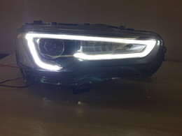 Wholesale Led Drl Lancer - Auto LED Headlight +Taillight for Mitsubishi LANCER EX 2008-2014 Tail lamp With led Signal light ,headlight with A5 style DRL H7 Xenon light
