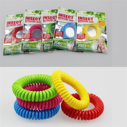 Wholesale Natural Bracelets - New good quality Mosquito Repellent Band Bracelets Anti Mosquito Pure Natural Adults and children Wrist band mixed colors Pest Control I011