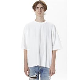 2019 оптовые майки Оптовая негабаритных футболка homme Kanye WEST одежда сезон стиль футболка хип-хоп футболка уличная мужская футболки дешево оптовые майки