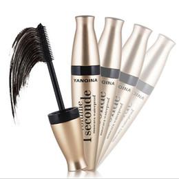 Wholesale Eyelash Extension Liquid - 3Pcs lot High Quality Waterproof Black Mascara Volume Curling Eyelash Extension Makeup Cosmetic Thick Mascara Liquid Grower