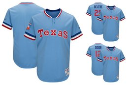 Wholesale Lights Ranger - Men's Texas Rangers 29 Adrian Beltre 12 Rougned Odor Majestic Light Blue 1977 Turn Back the Clock Player Baseball Jersey
