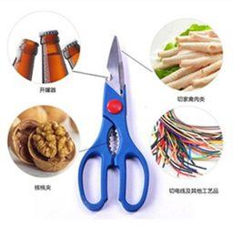Wholesale wholesale kitchen scissors - Stainless Steel Scissor Open Multi function High Quality Clipper Open Bottle Walnut Fish Clip Forfex Kitchen Tool 1 15rr R