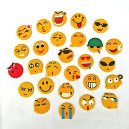 Expressões animais on-line-Expressão dos desenhos animados Ímã Artigos Para o Lar PVC cola Flexível QQ emoji Frigorífico Ímãs Presente Casa Muitos Estilos 0 7cx C R
