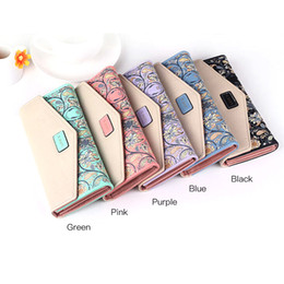 Wholesale Envelope Case - Women Lady Leather Clutch Envelope Wallet Long PU Card Holder Case Purse Handbag