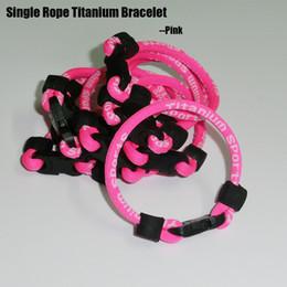 collana all'ingrosso della corda da baseball Sconti Bracciale in titanio con singola corda Cancro al seno spedizione gratuita
