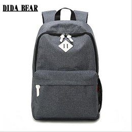 cb9869c0c780 Fashion Canvas Backpacks Large School bags for Girls Boys Teenagers Laptop  Bags Travel Rucksack mochila Gray Women Men