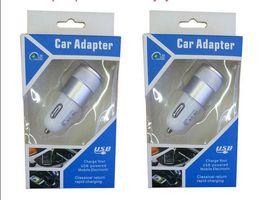 Wholesale Ipad Mini Car - 100PCS Lot Universal Dual Port USB Car Charger Adapter For Smart Phone Cell Phone Samsung iphone ipad mini Smartphone