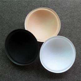 Wholesale Black Foam For Padding - 3 Colors Foam Bra Insert Pads 100pcs lot Round Full Cup Bikini Swimsuit Breast Enhancer Push Up for Summer