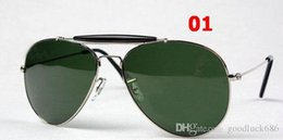 Wholesale Crystal Eye Lens - 2016 new Top Brand Classics Pilot Outdoorsman 29 Sunglasses Men Women Alloy Metal Frame Crystal Green Glasses Lens 62mm Case Box