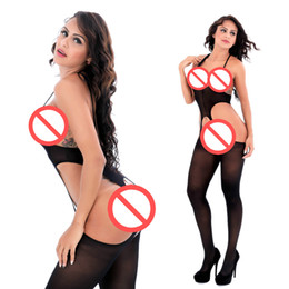 spandex arancio unitard Sconti Sheer Suspender Tank Body Stocking Sexy Bodystockings Senza maniche Lingerie Fetish Apparel con apertura sul cavallo NightDress Exotic Body Panties