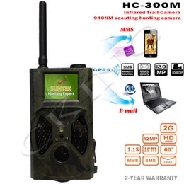 Wholesale Hunt Camera Mms - Wholesale-Suntek HC300M Hunting Camera HC-300M Full HD 12MP 1080P Video Night Vision MMS GPRS Scouting Infrared Game Hunter Trail Camera