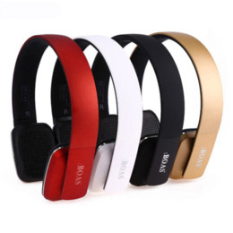 Wholesale Headphone Wireless Notebook - BOAS Bluetooth 4.1 headphones wireless Stereo earphones headsets handsfree with microphone for iphone xiaomi PC Notebook girls