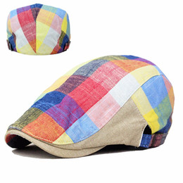 Wholesale Cool Caps For Women - Wholesale-High quality Berets Hats New Unisex Summer Sports Berets Caps For Men Women Cool Caps Colorfull Adjustable Brand Comfortable