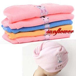 Wholesale Magic Hair Dry Drying Towel - 2017 New Magic Womens Girls Hair Drying Towel Head Wrap Hat Cap Quick Dry Towels Bathing Tool Bathroom Supplies